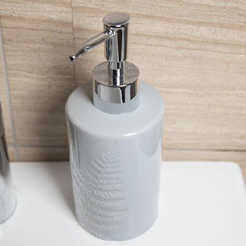 Embossed Leaf Soap Dispenser - Grey