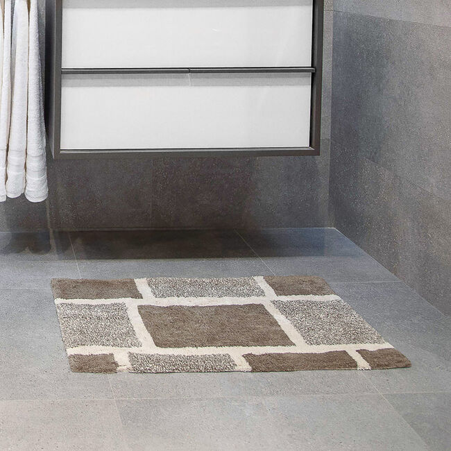 Squares Bath Mat Natural