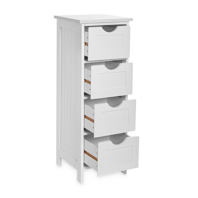 Porto Bathroom Cabinet Storage with 4 Drawers