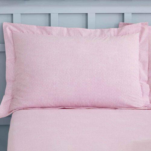 Mabel Oxford Pillowcase Pair - Teal/Mauve