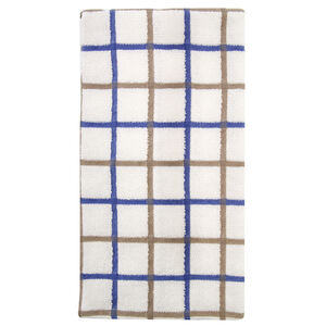 Multi Check Tea Towel - Blue