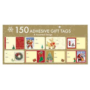 Christmas Adhesive Gift Tags 150Pk