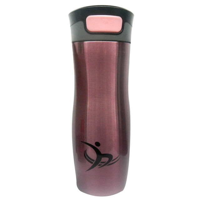 Metallic Vacuum Travel Mug - Coral