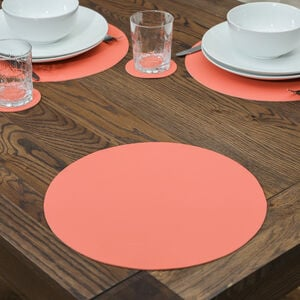 Round Leather Terra Placemat