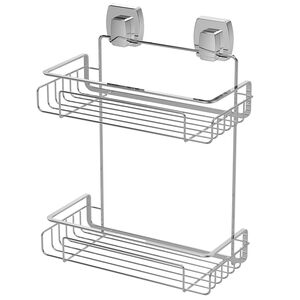 Twist2Loc Two-tier Bathroom Rack - Chrome