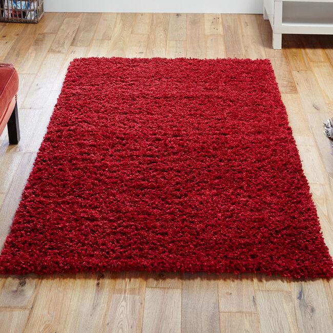 ELSA SHAGGY PLAIN 80x150cm Red