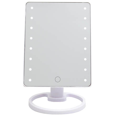 LED Smart Touch Lighting Mirror USB - White