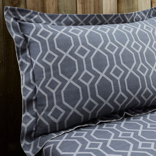 Theo Brushed Cotton Oxford Pillowcase Pair