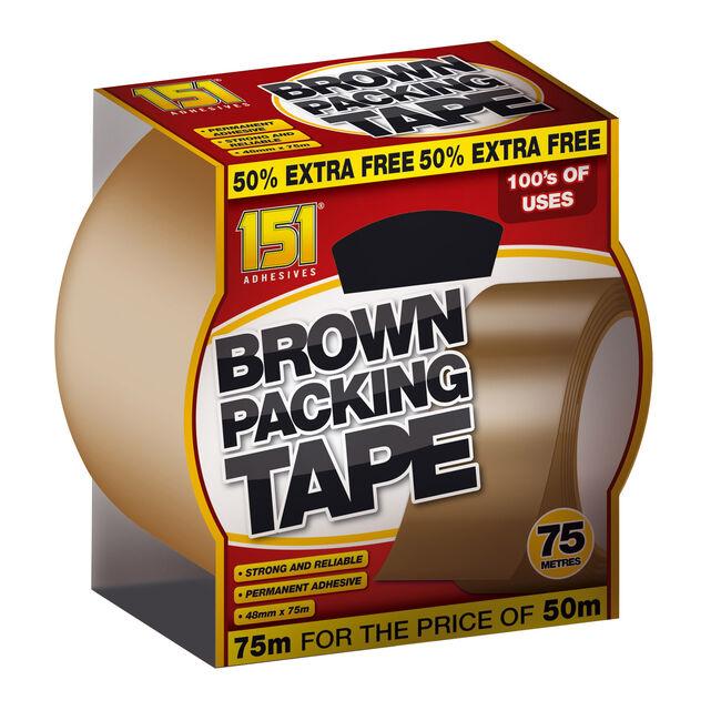 151 Brown Packing Tape 75M