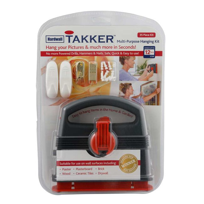 Takker No Nails Hardwall Picture Hanging