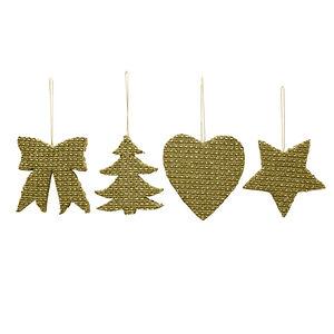 Gold Diamante Christmas Decoration