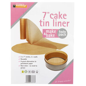 Toastabags Make & Bake 7 Inch Cake Tin Liner