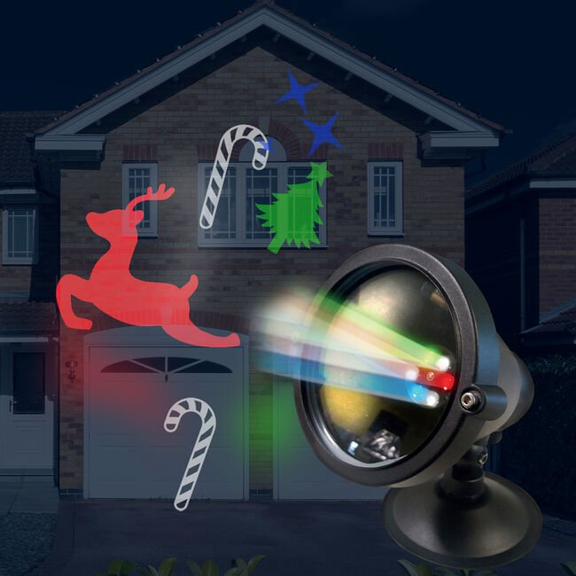 Outdoor Christmas Scene Projector