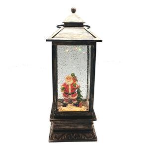 Light Up Santa Swirling Glitter Lantern