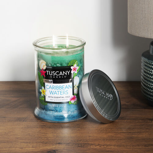 Tuscany 18oz Candle Caribbean Waters