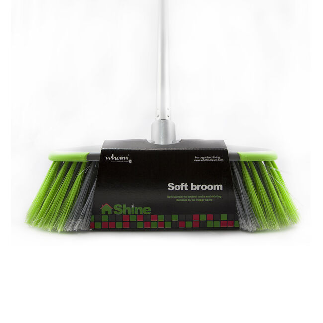 Wham Shine Stiff Broom with Handle
