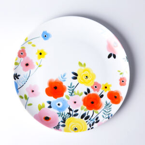 Atelier 75 Blue And White Flower Dinner Plate
