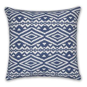 Aztec Cushion 58x58cm - Blue