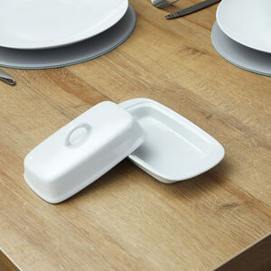 ABNEY & CROFT White Butter Dish