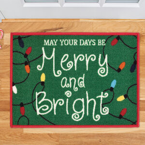 Merry and Bright Doormat 40 x 60cm