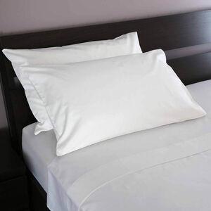 500TC Cotton Houswife Pillowcase Pair - White