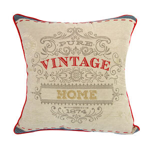 Vintage Postcard Cushion Covers 2Pk 45cm x 45cm