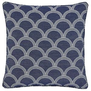 Geo Jacquard  Cushion 45x45cm - Blue