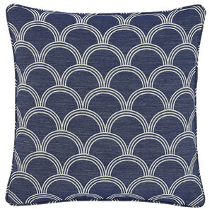 Geo Jacquard Blue 45x45 Cushion