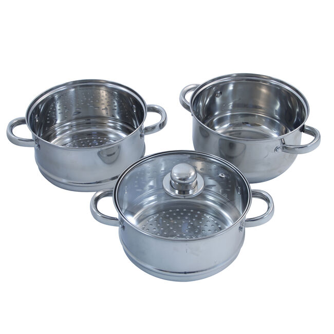 Dynamic Chef 3 Tier Steamer Set 20cm