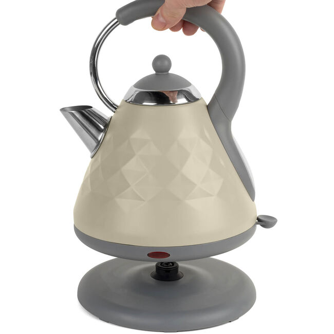 Salter Naturals Diamond Pyramid Kettle - Grey