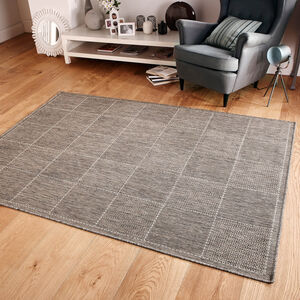 CHECKERED FLATWEAVE 160x225cm Grey