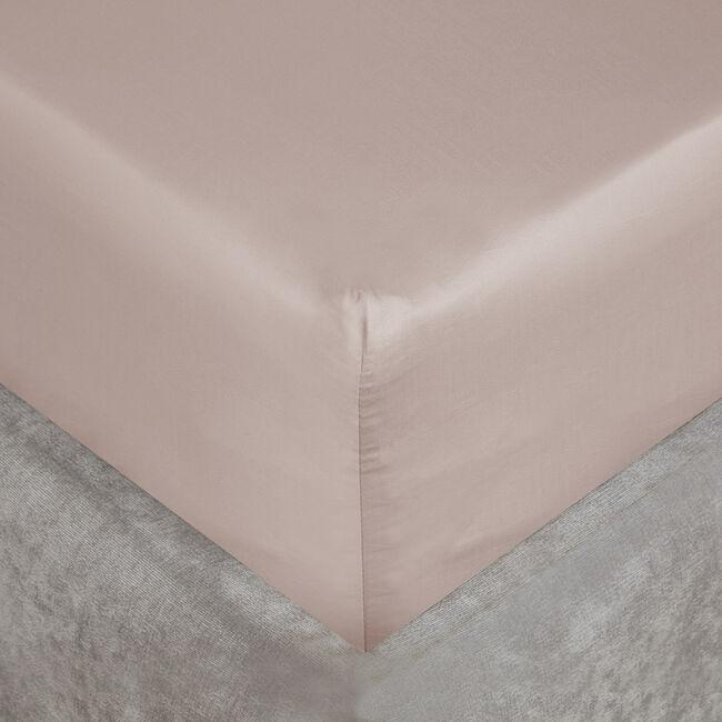 KS FITTED SHEET 500 Threadcount Cotton Blush 8C