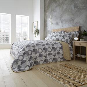 Rotate Bedspread 200x220cm - Grey/Ochre