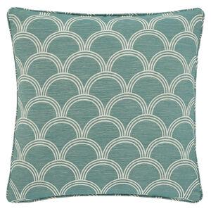 Geo Jaquard Cushion 45x45cm - Green