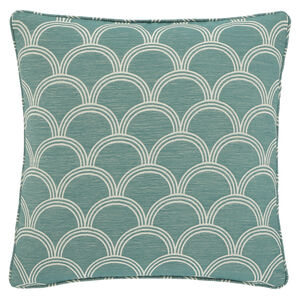 Geo Jaquard Green 45x45 Cushion