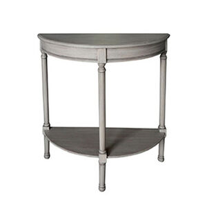 Laurette Half Moon Table 75X30X75CM Grey