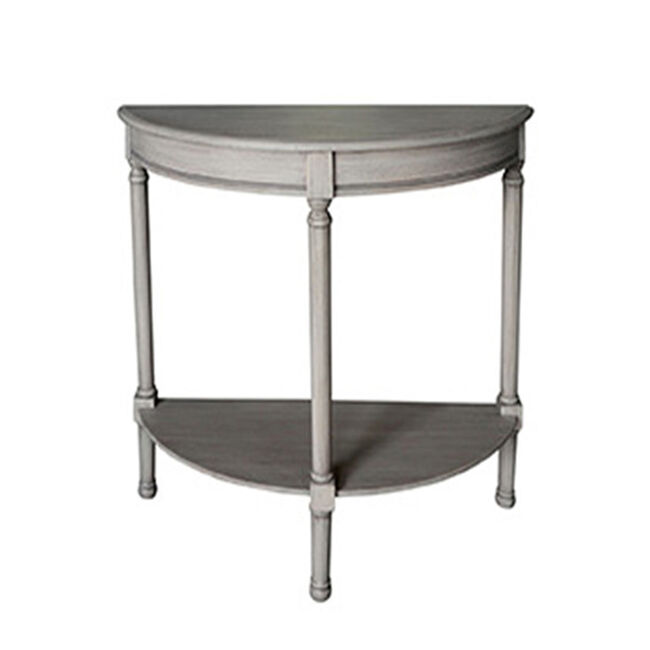 Laurette Half Moon Table 75X30X75CM Grey