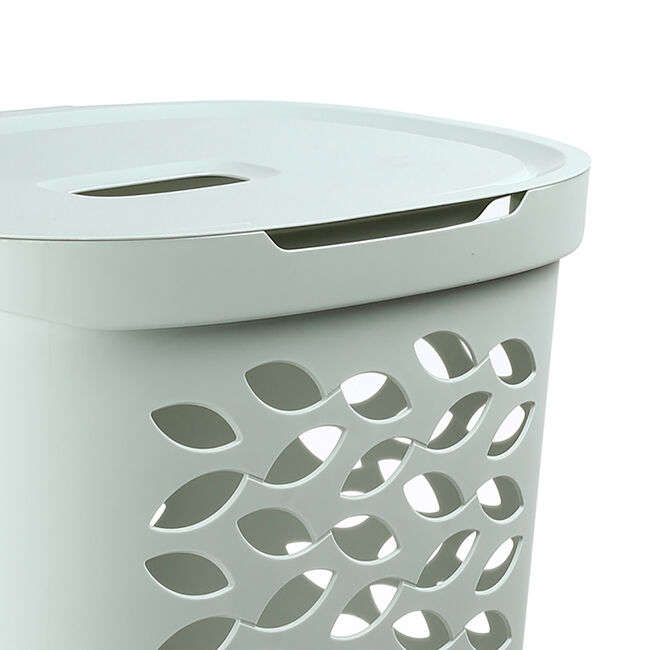Ezy Storage Fleur Laundry Hamper 62.5L - Pistachio