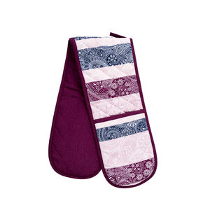 Paisley Stripe Double Oven Glove