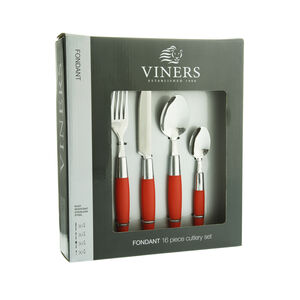 Viners Fondant Red Cutlery Set 16 Piece