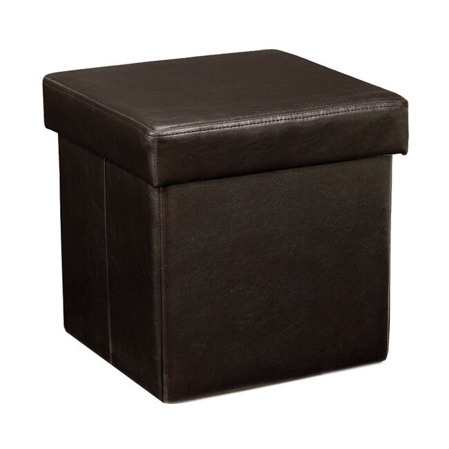 Deluxe Dark Brown Folding Ottoman