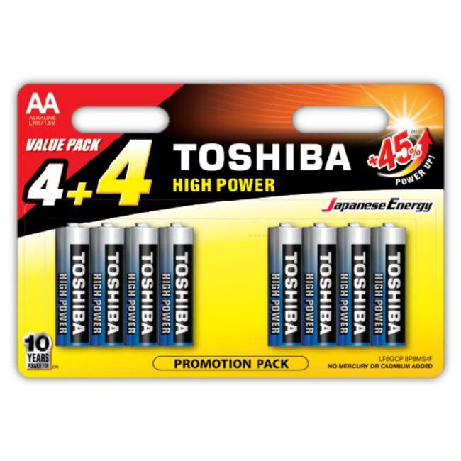Tobisha Alkaline 4AA + 4 Free