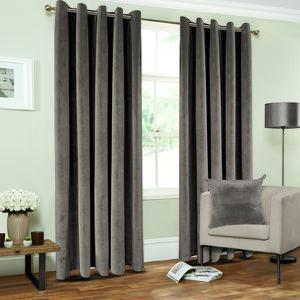 Nicole Day Diamond Grey Curtains