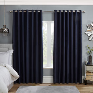 Blackout & Thermal Boxes Curtain - Navy