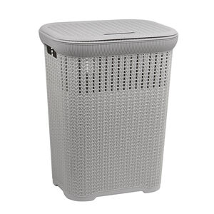 Knit Laundry Hamper Light Grey
