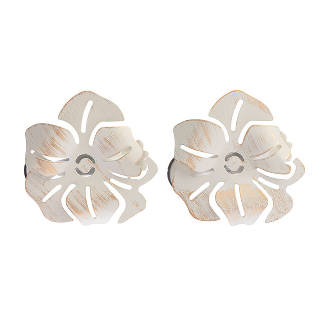 Coquelicot Ivory/Gold Curtain Clip 2Pk