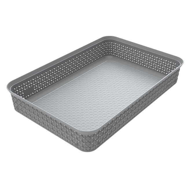 Ezy Mode A4 Storage Tray Stackable - Stone Grey