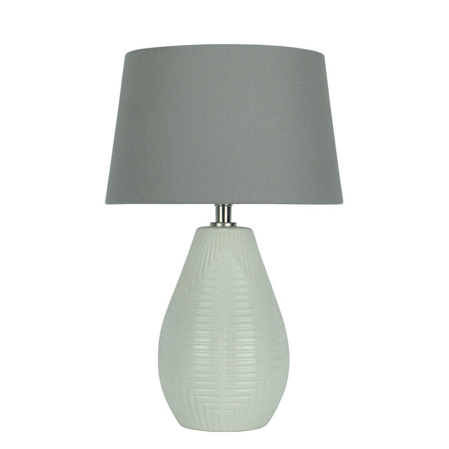 Geometric Etched Table Lamp