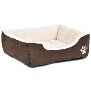 Brown & Beige Pet Bed Large