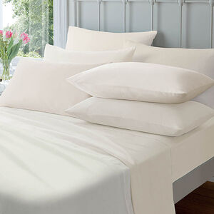 Flannelette Cream Housewife Pillowcases